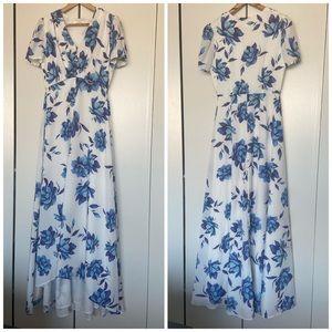 Yumi Kim Celia Maxi Dress in Blue Bell Floral
